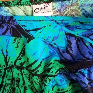 Catalina side skirt blue green purple fantasy desi